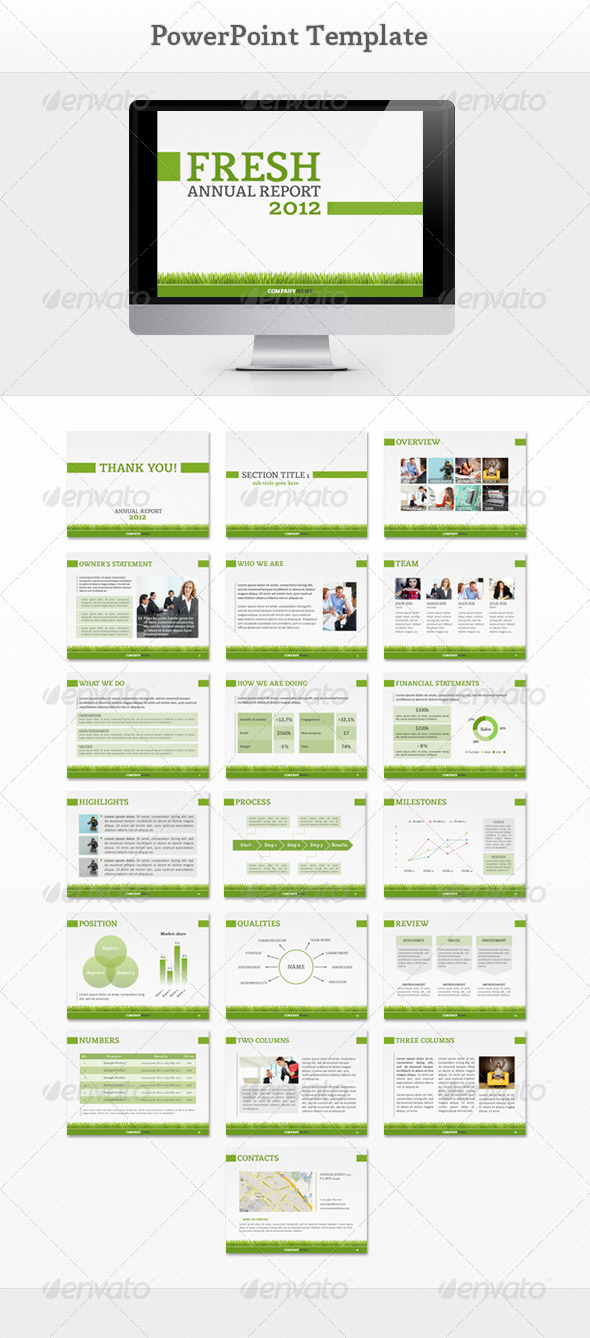 GraphicRiver Fresh Report PowerPoint 2551641