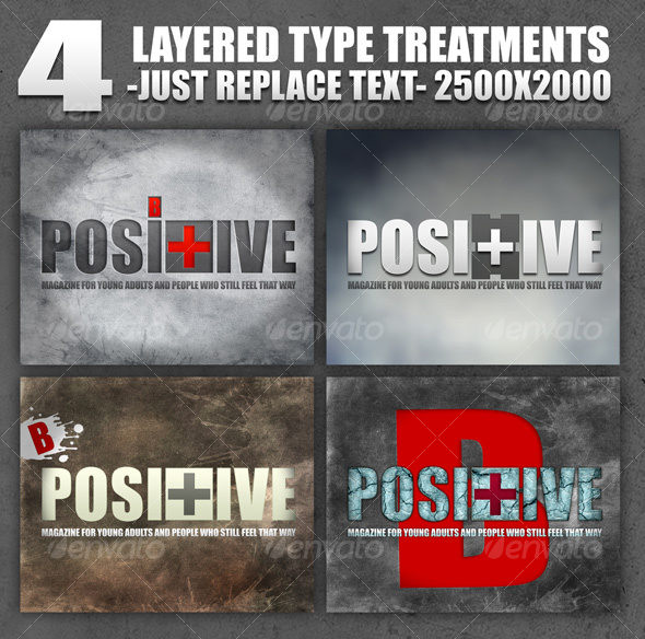 GraphicRiver 4 Layered Type Treatments 91696