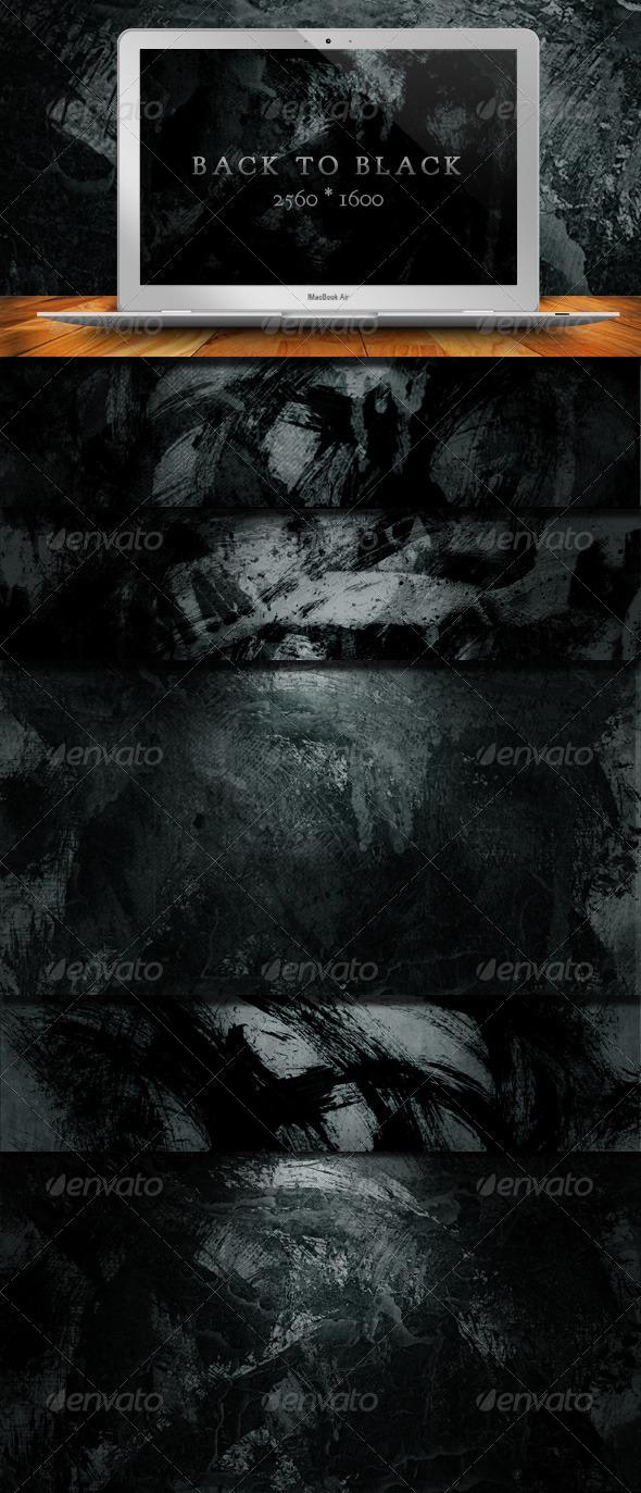 GraphicRiver 10 Back To Black Grunge Backgrounds 287323