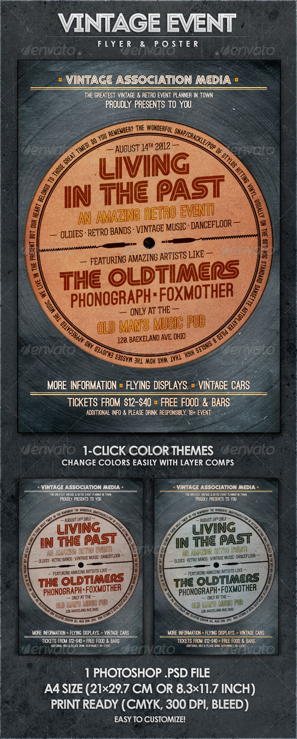 GraphicRiver Living in the Past Retro Flyer & Poster 2565514