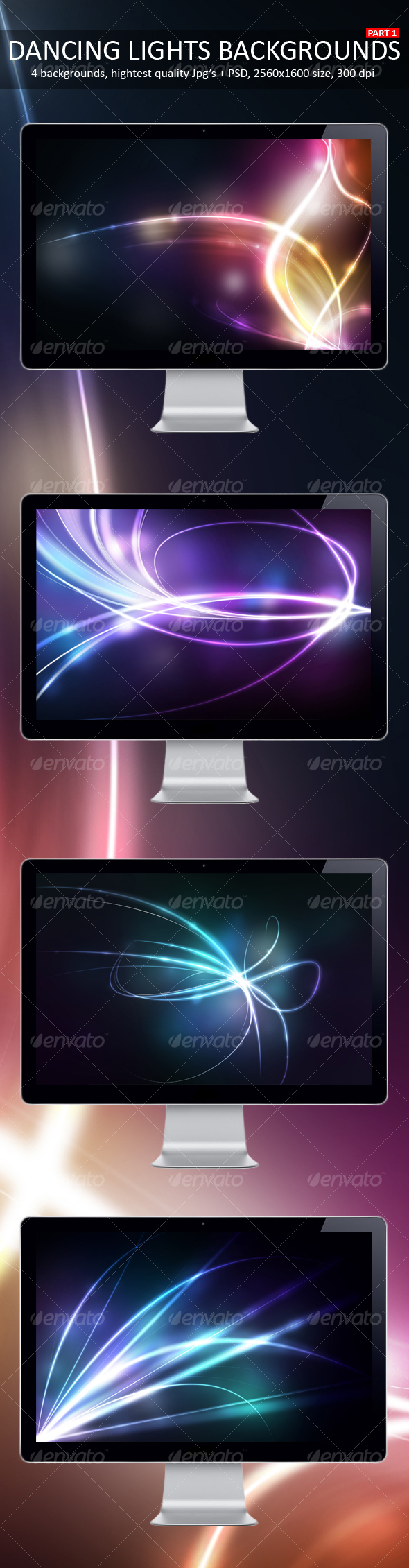 GraphicRiver Dancing Lights Backgrounds Part 1 91191