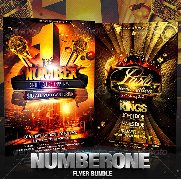 GraphicRiver NumberOne Flyer Bundle 2570657