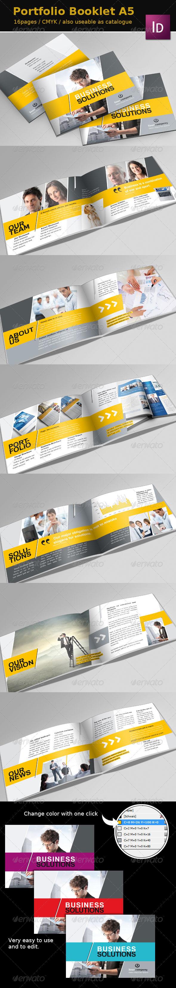GraphicRiver Portfolio Booklet A5 2571196