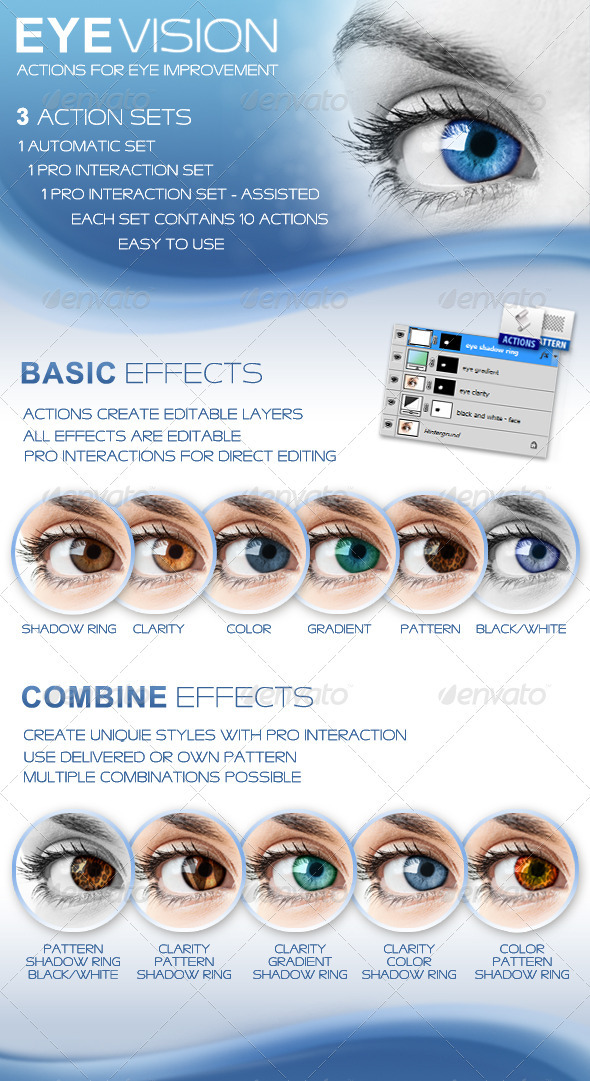 Professional Eye Coloration Actions: Professional Eye Coloration Actions