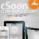 cSoon - The Clean Coming Soon Page - ThemeForest Item for Sale