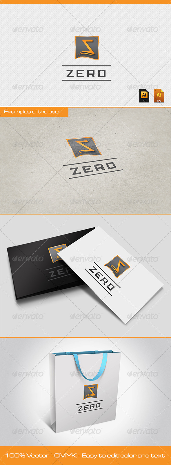 GraphicRiver ZERO Logo Template 2575148