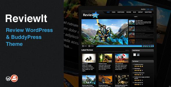 ThemeForest ReviewIt Review WordPress & BuddyPress Theme 109666