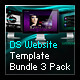 DS Website Template Bundle 3 Pack - ActiveDen Item for Sale