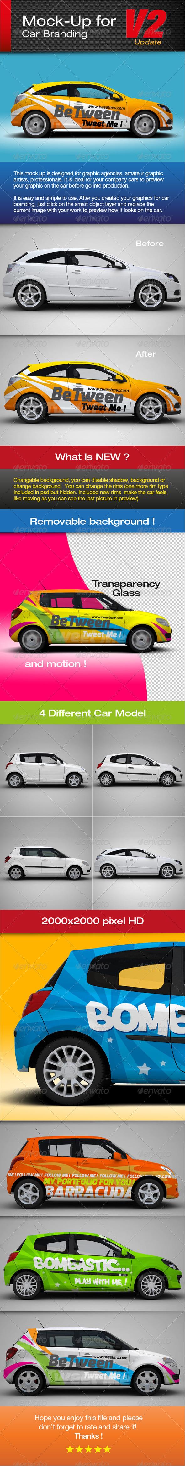 GraphicRiver Mock-up for car branding 2436690
