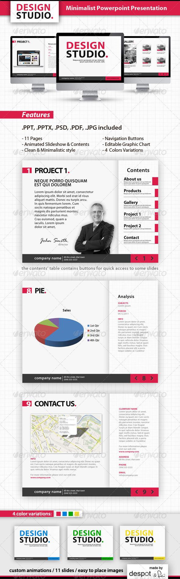GraphicRiver Minimalist Powerpoint Template 288700