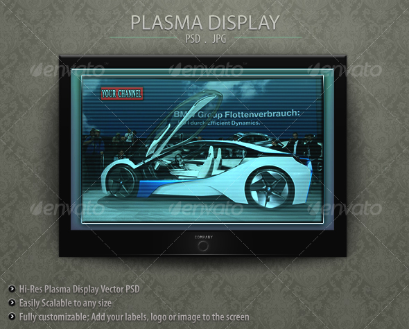 Graphic River Plasma Display Graphics -  Product Mock-Ups  Technology 78408