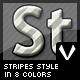 Stripes style in 8 colors - GraphicRiver Item for Sale