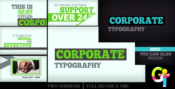 After Effects Project - VideoHive Corporate Typography 2551573