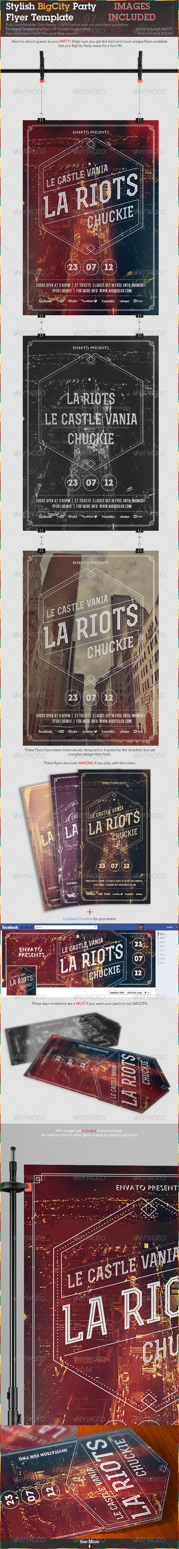 GraphicRiver Stylish BigCity Party Flyer Template 2582264