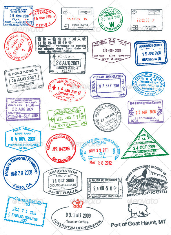 printable passport stamps for kids! | Preschool | Pinterest