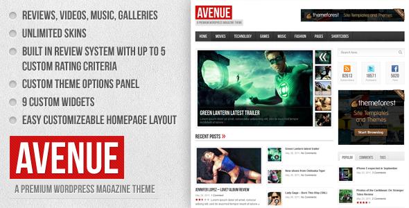 Themeforest - Avenue - A WordPress Magazine Theme(LATEST 1.2.3)