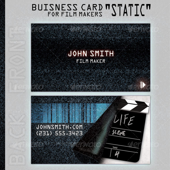 GraphicRiver Business Card Static for people in film business 93903