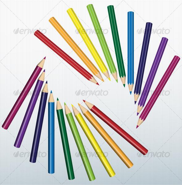 GraphicRiver Colored pencils 93934