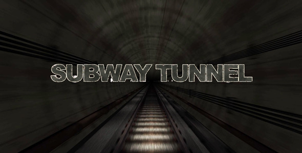 VideoHive Cinematic Grunge Subway Tunnel Titles 2576723