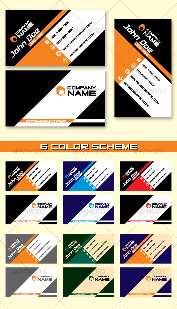GraphicRiver Modern Business Card 93961