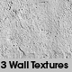 3 Wall textures + vray material - 3DOcean Item for Sale