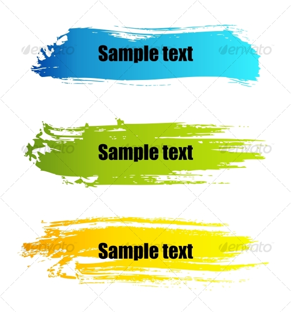 GraphicRiver Color paint grunge banners 94009