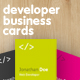 Vertical developer 2x3,5 inches business card - GraphicRiver Item for Sale
