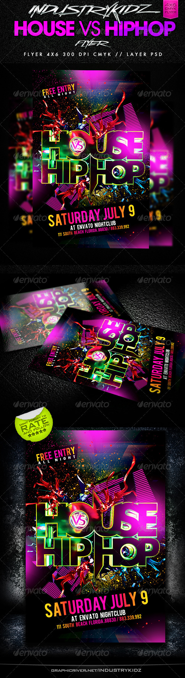 GraphicRiver House Vs HipHop Party Flyer 2591288