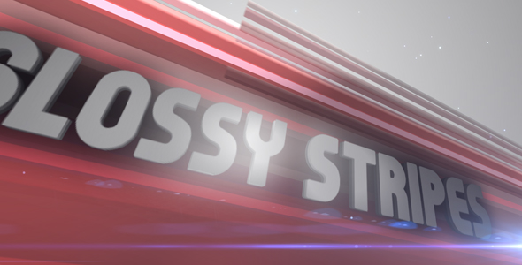 After Effects Project - VideoHive Glossy Stripes 94164