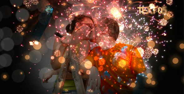 After Effects Project - VideoHive Romantic Fireworks 2594104
