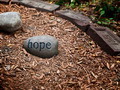 Stone with a Hope Message from the Memorial Garden in Boston - PhotoDune Item for Sale