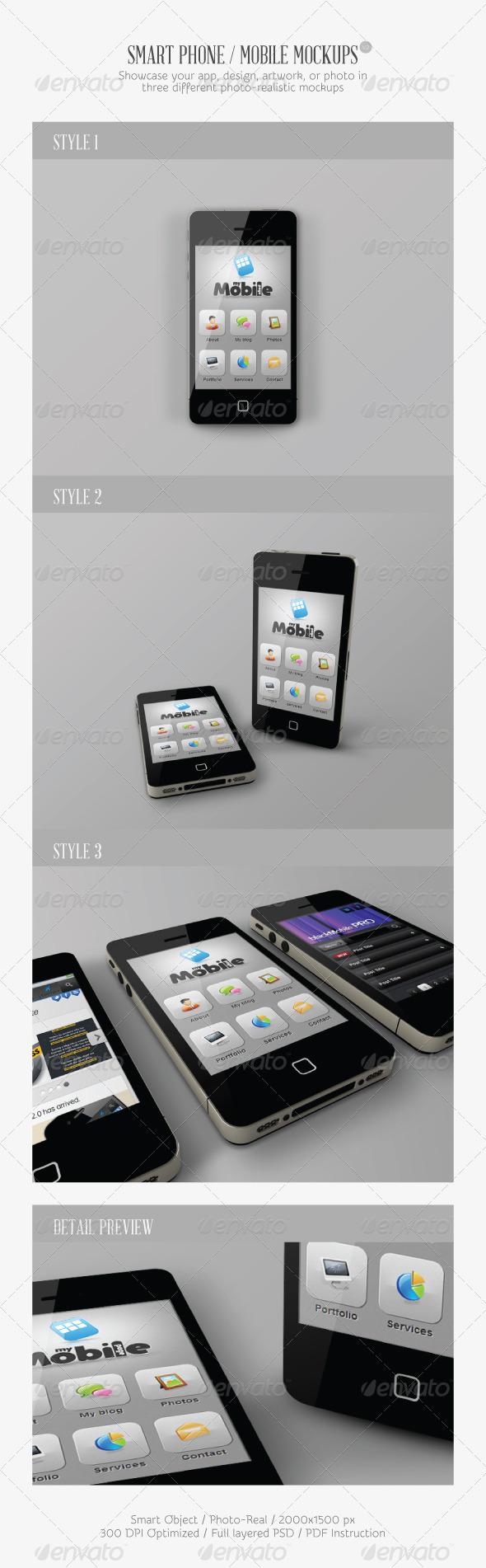 GraphicRiver Smart Phone Mobile Mock-ups V2 2601335
