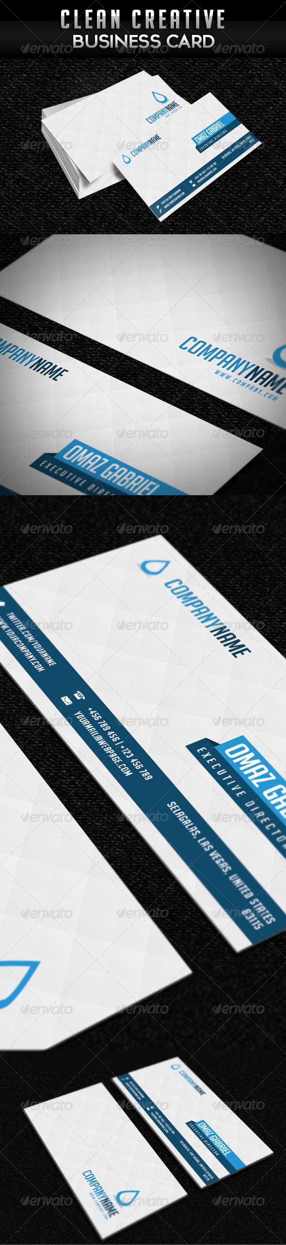 GraphicRiver Creative Clean Minimalist Business Card 2601532