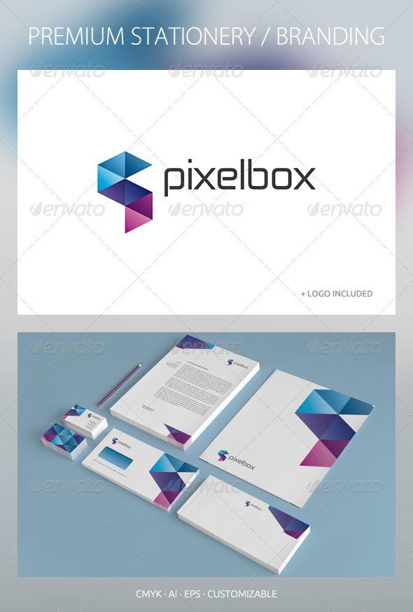 GraphicRiver Pixelbox Corporate Identity 2601647