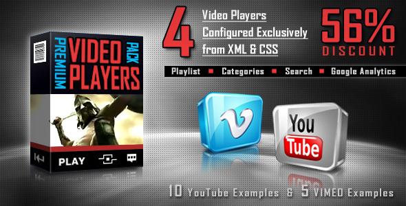 ActiveDen Premium Video Players Pack FLV YouTube Vimeo 275068