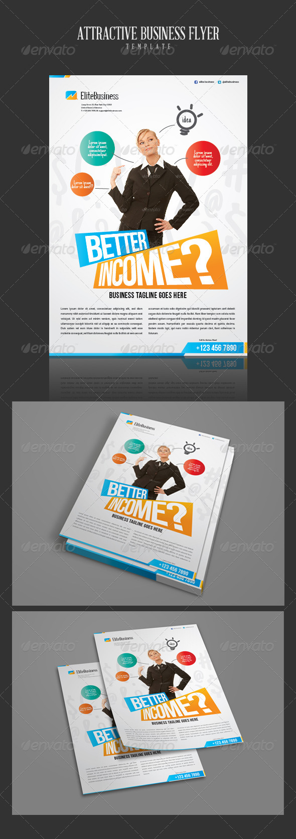 GraphicRiver Attractive Business Flyer Template 2605327