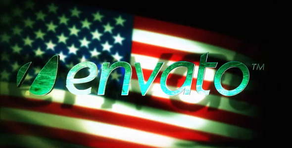 VideoHive Patriot Flag End Text 2592065