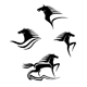 Set of black horses symbols - GraphicRiver Item for Sale