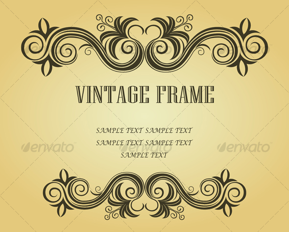 GraphicRiver Vintage frame in victorian style 94606