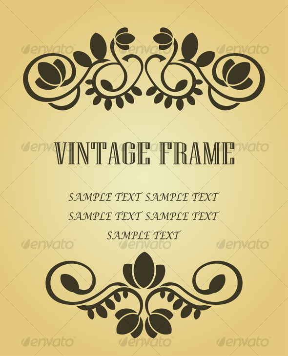 Graphic River Vintage frame in victorian style Vectors -  Decorative 94608