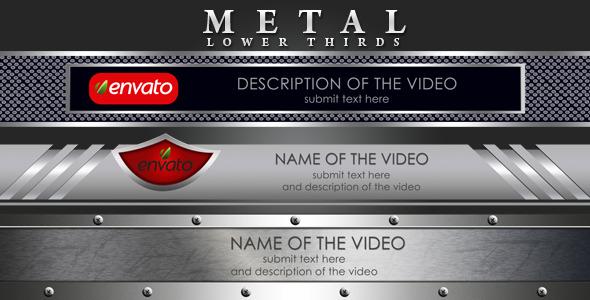 VideoHive Metal Lower Thirds 2594958