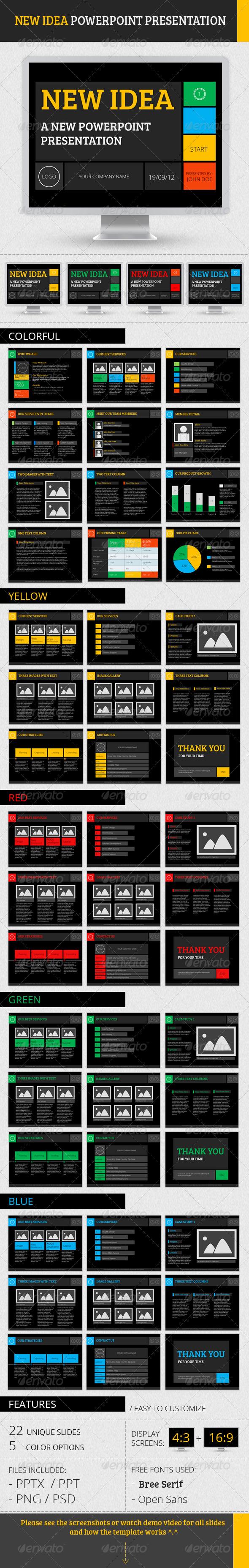 GraphicRiver New Idea PowerPoint Presentation 2611781