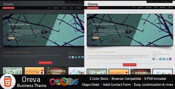 ThemeForest Oreva Business HTML5 Template Site Templates Corporate Business 2374211