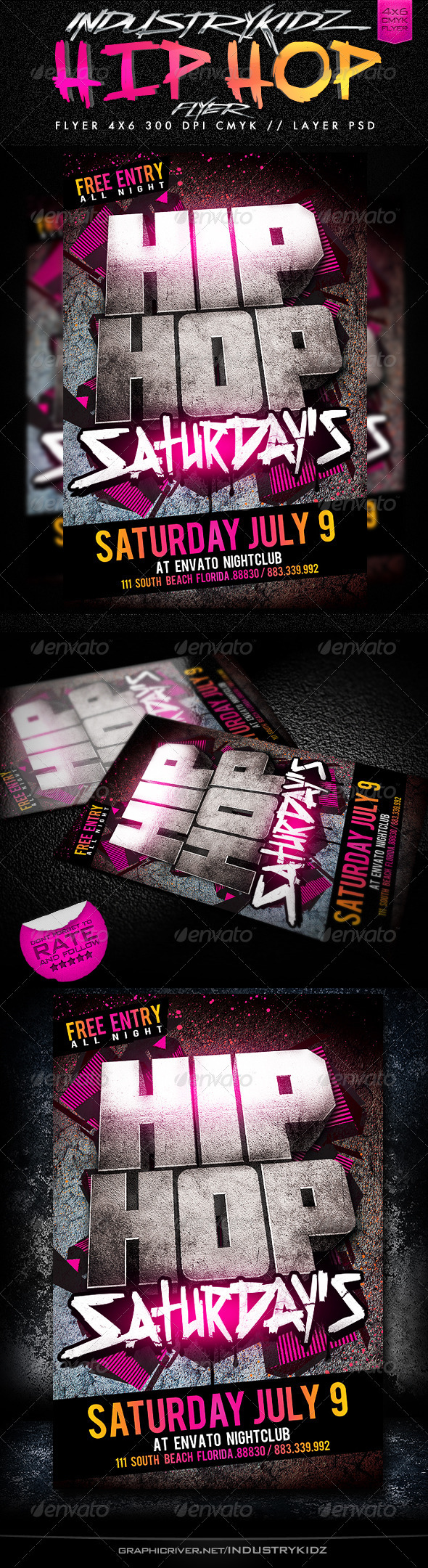 GraphicRiver Hip Hop Saturdays Flyer 2613375