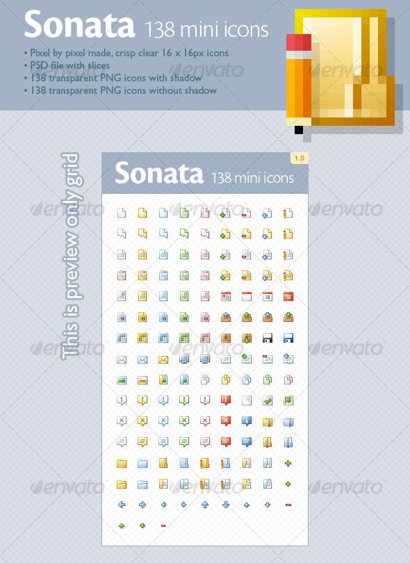 GraphicRiver Sonata mini icons 138 icons 94798