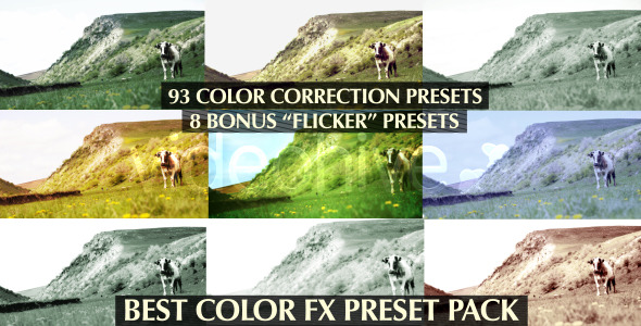 After Effects Project - VideoHive Best Color FX Preset 100-Pack 2585739