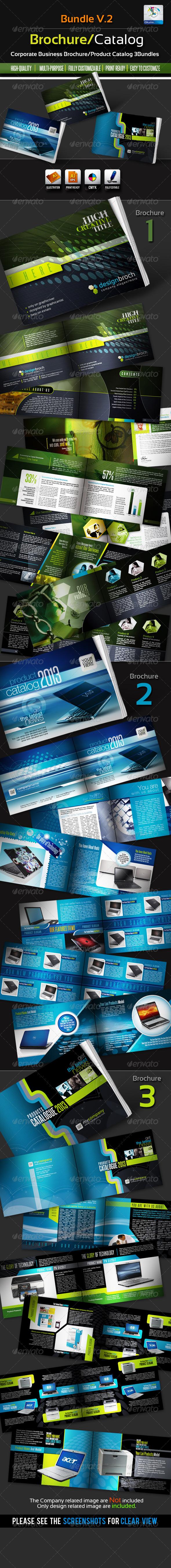 GraphicRiver Corporate Brochure Catalogue Bundles v.2 2615737