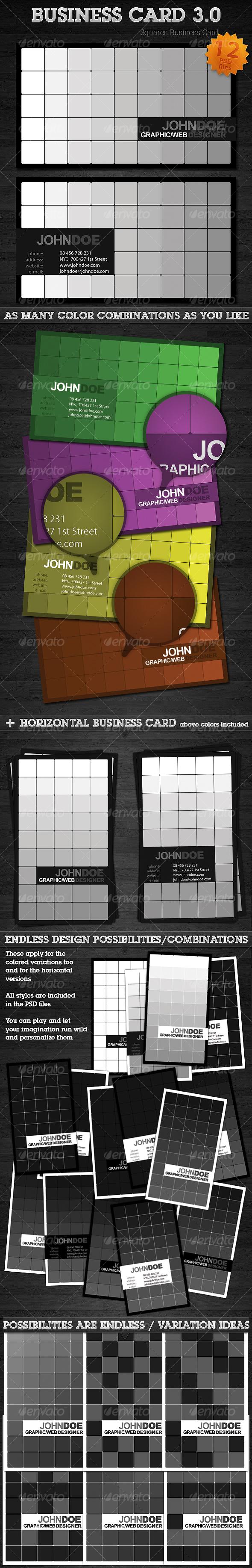 GraphicRiver Squares Business Card 3.0 93030