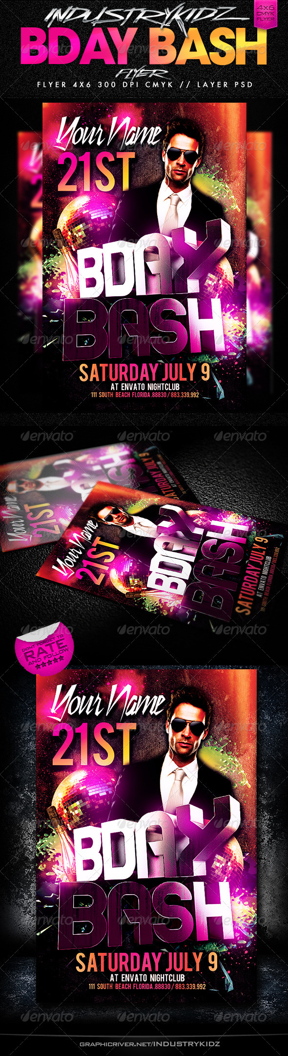 GraphicRiver Birthday Bash Party Flyer 2617420