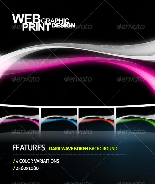 GraphicRiver Dark Wave Bokeh Background 94992